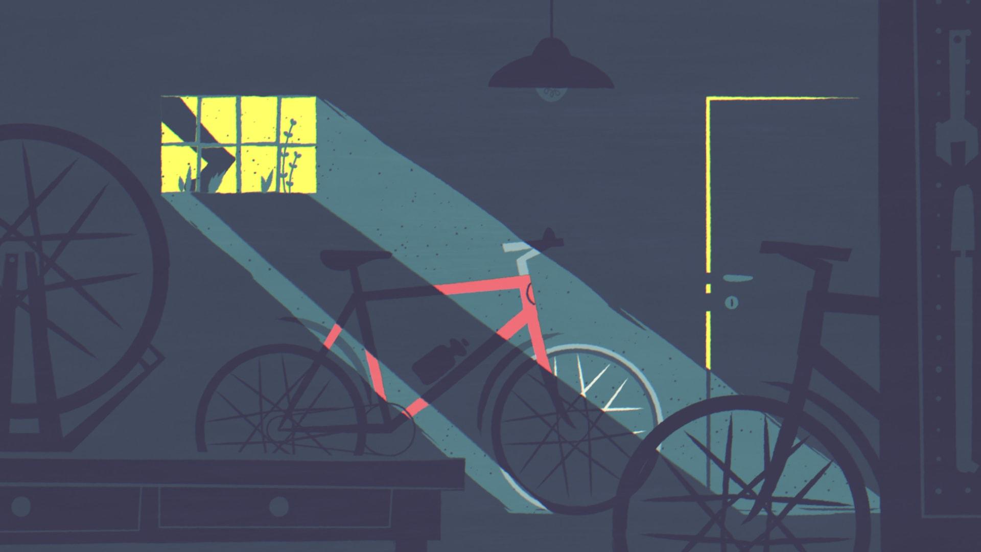 Cykelvänlig arbetsplats Illustration