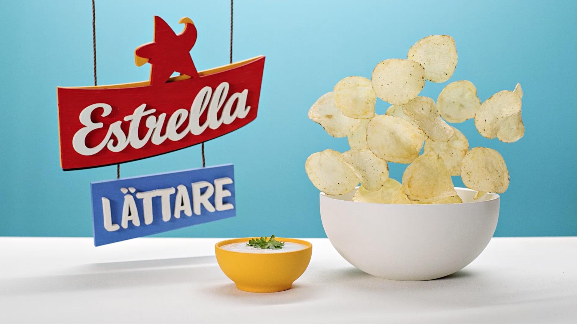 Fotografi visandes Chips skål från animerad reklamfilm