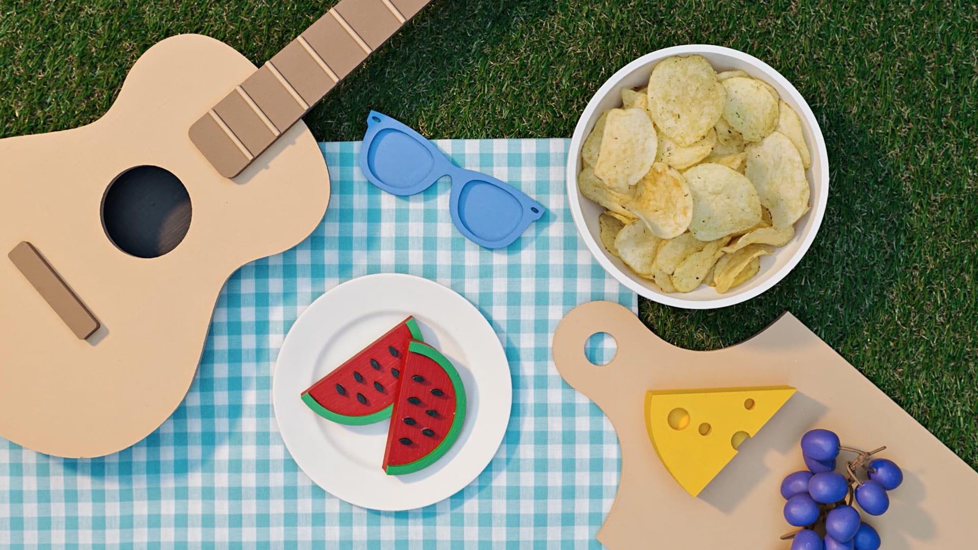 Chips på picknick