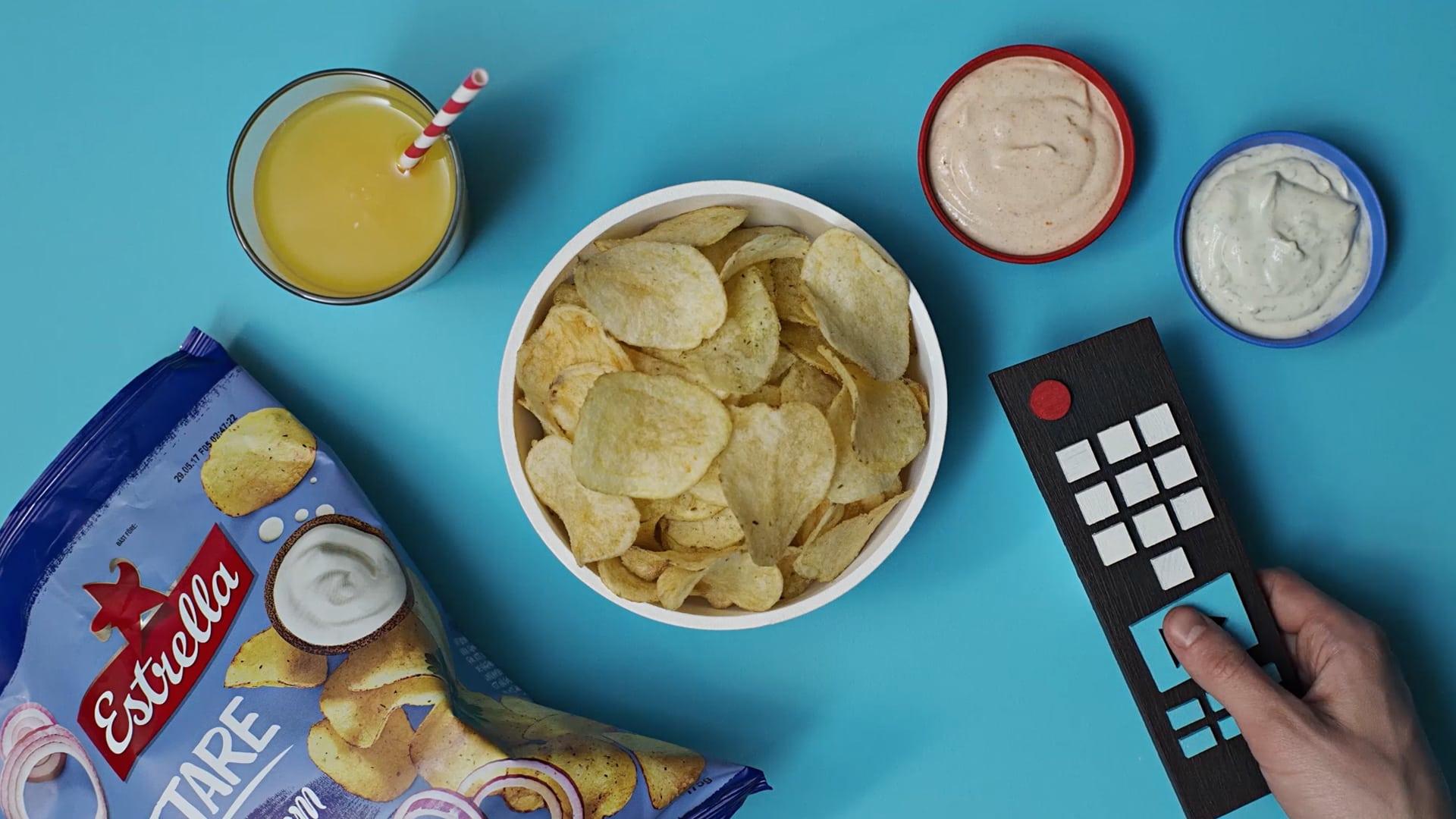 Estrella Chips på bord