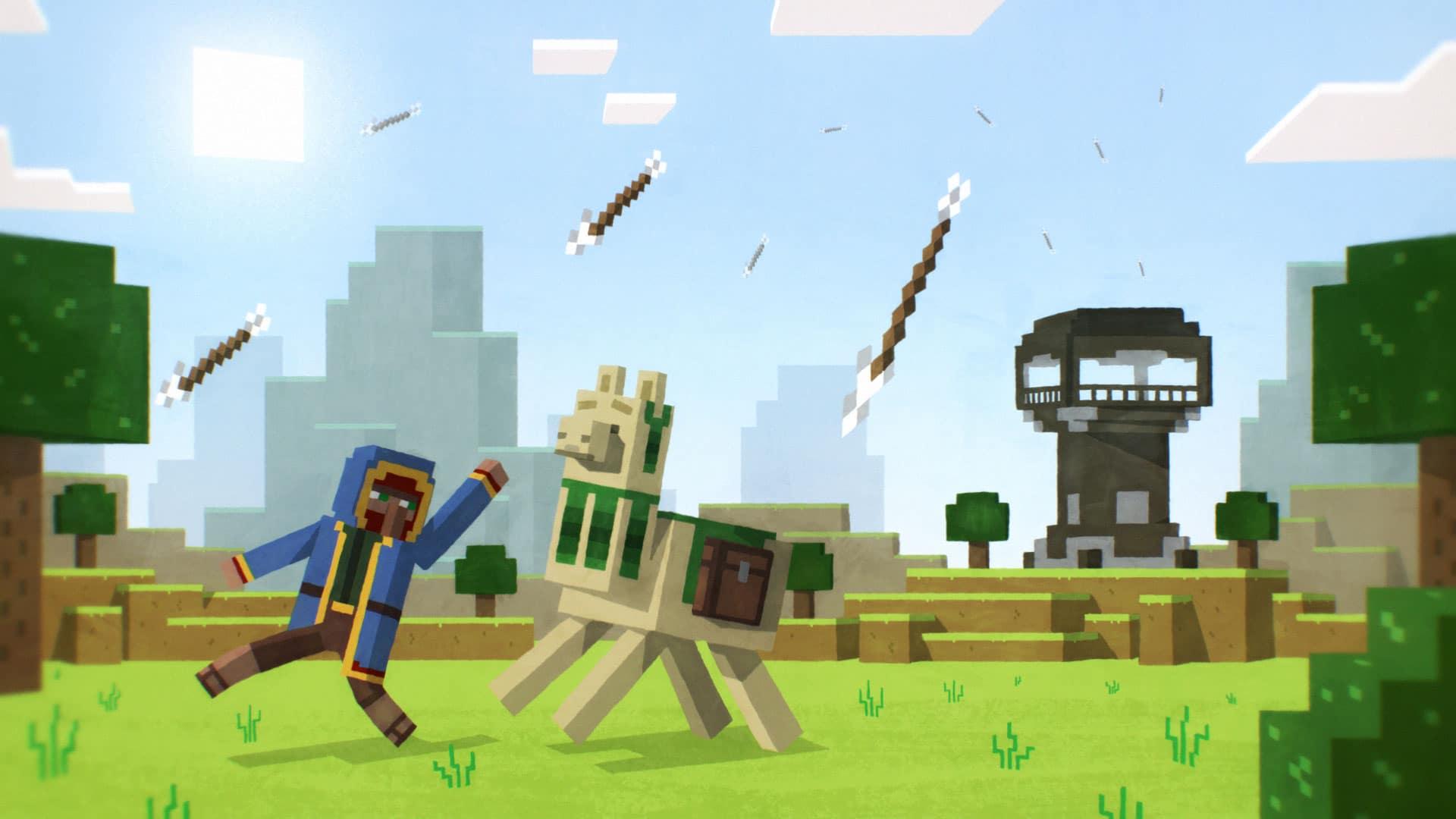 Skiss från Minecraft produktion