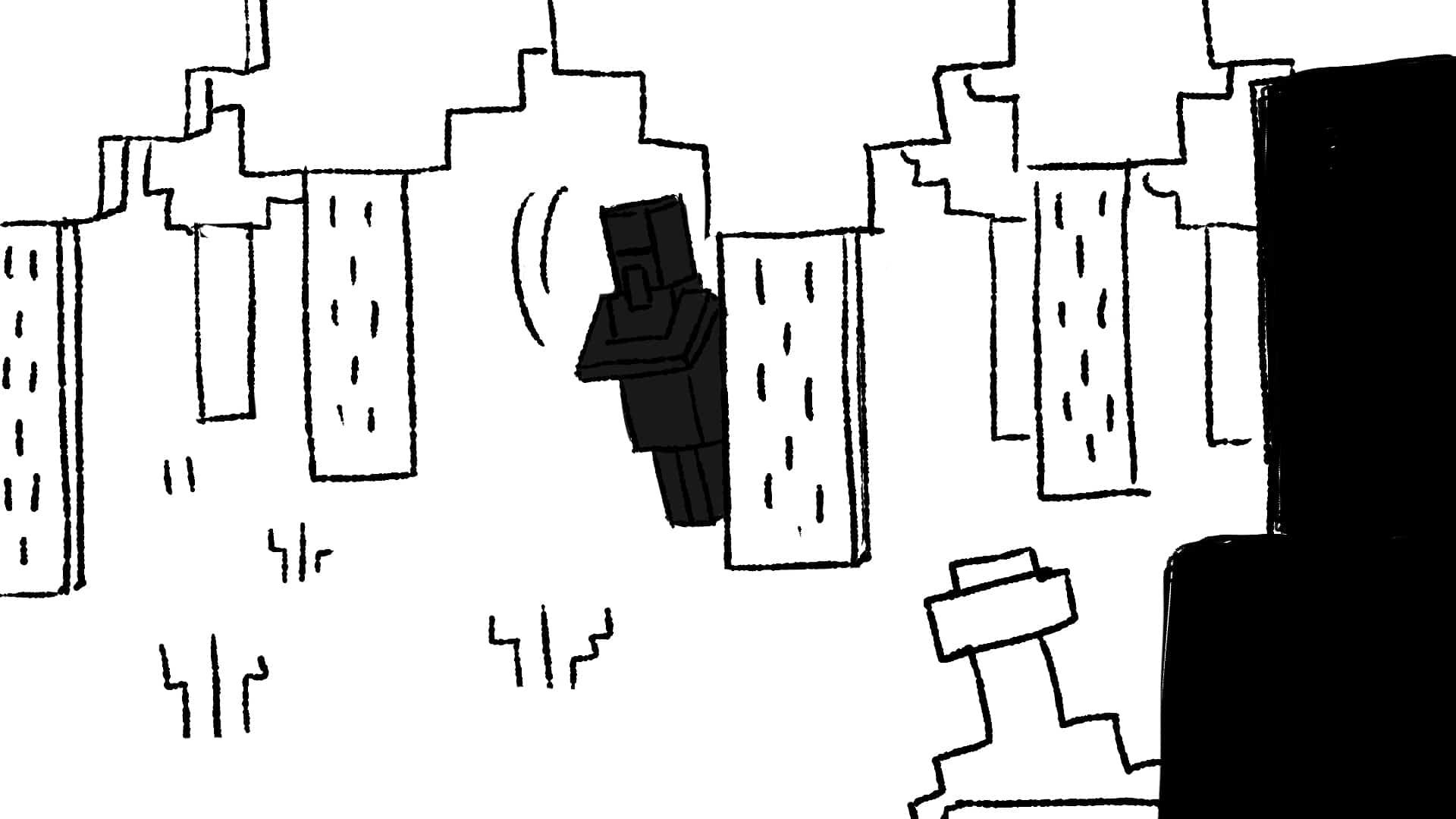 Storyboard ruta från minecraft film