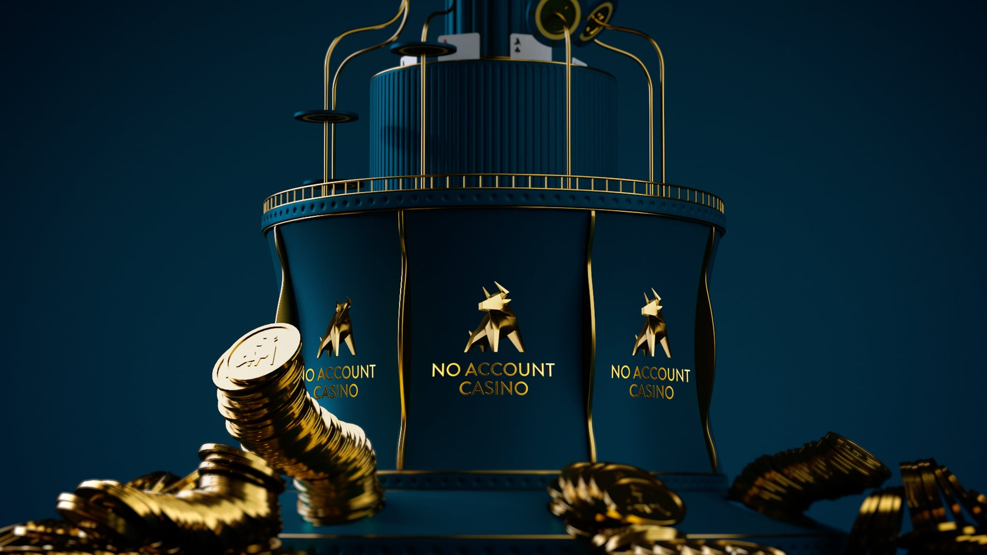 Stillbild i 3D visandes No account casino staty