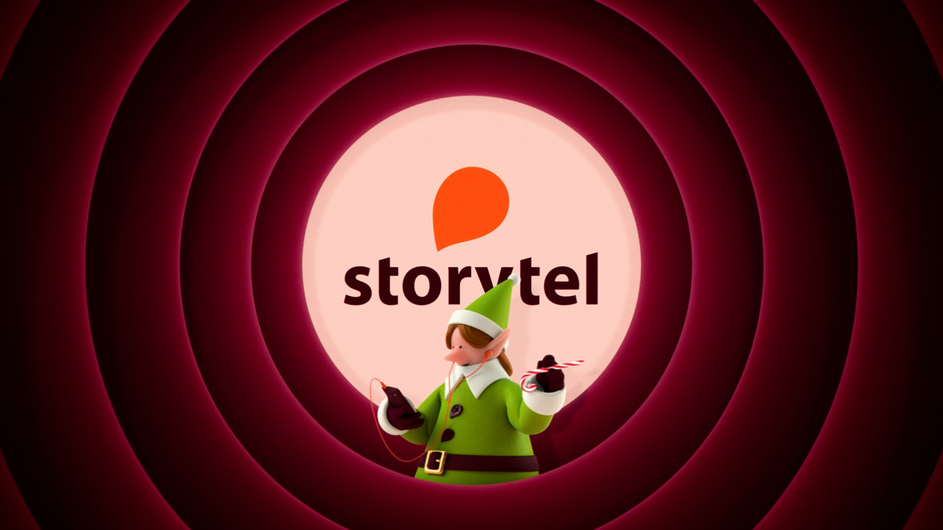 Illustration från storytels julfilm