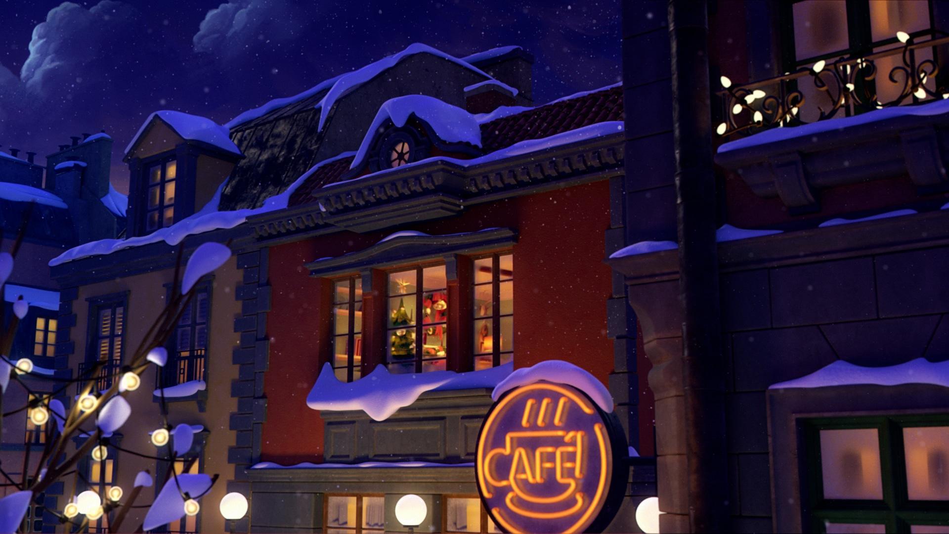 Illustration från storytels julfilm